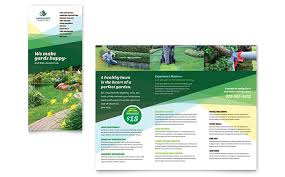 Sample Flyers For Landscaping Business Landscaper Brochure Template Design