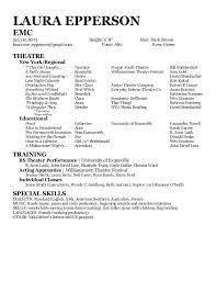 Sample Actors Resume Beginner Acting Template Format Actor Open