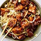 baked sesame chicken noodles