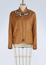 Designer Jackets Womens Marco De Vincenzo Jackets Womens Satin Bomber Jacket Camel Multicolor Alzon Gallery