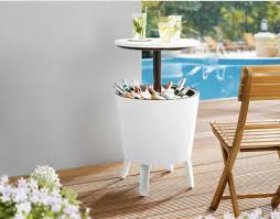 garden patio party table with built in