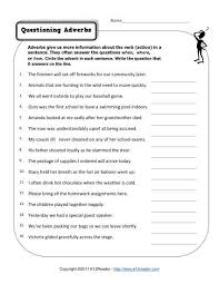 Questioning Adverbs | Free, Printable Adverb Worksheets