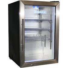 Glass Refrigerator Glass Door Tropical Beer Fridge Compact 68 Litre With Lock