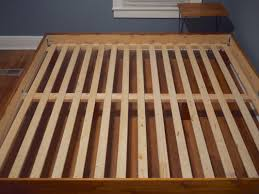Wood Slat Bed Frame Queen Classic Brands Europa Wood Slat And Metal ...