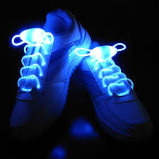 led strobe light shoe laces flashy rave party disco dance trippy you