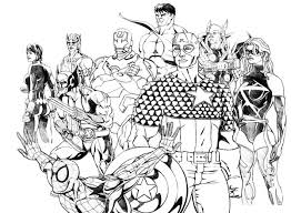 Small Picture The Avengers and Wolverine Coloring Page Download Print Online