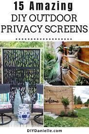15 diy outdoor privacy screens diy