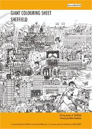 Sheffield Skyline Giant Colouring Sheet Meha Art