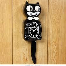 Retro Kitchen Wall Clocks Kit Kat Animated Black Cat Cordless Clock Vintage Clocks