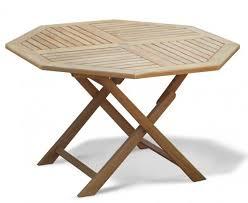 suffolk teak folding octagonal garden table 120cm