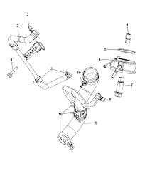 2014 dodge durango engine oil filter adapter oil cooler hoses tubes