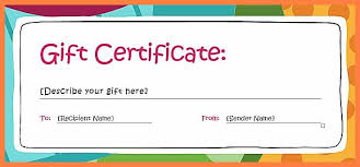 7 Free Online Gift Certificates Templates Andrew Gunsberg