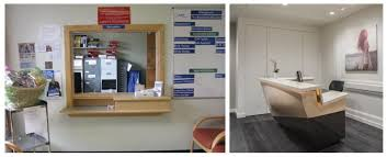 Dental office front desk design Modern The Impersonal Checkin Wall Of Years Gone By Vs Todays Compact Open Reception Desk Hague Dental Supplies Innovative Design Ideas To Make Your Dental Office Shine