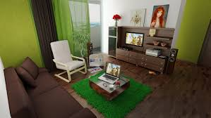 Green and Brown living Room by shyntakun ...