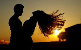 Couple Sunset Girl Boy Love wallpaper ...