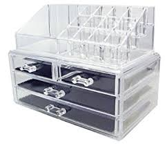 y s big size makeup case acrylic clear cosmetic organiser display box acrylic makeup storage 4 drawers