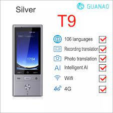 106 dil çeviri T9 çevirmen destekler 8 ülke çevrimdışı 4G WIFI akıllı ses  fotoğraf çeviri makinesi cihazı Translator