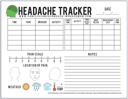 Migraine Tips And A Free Printable Headache Tracker