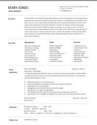 cv shop assistant retail resume template waitingdesign co