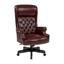 high back executive office chair. Interesting Office Work Smart Oxblood Vinyl High Back Executive Office Chair Intended The Home Depot