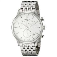wristwatches in brand tissot case color white features perpetual tissot tradition t0636171103700 watch