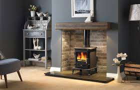firefox 5 1 clean burn ii stove 48 rustic dark oak geocast beam with feature lights