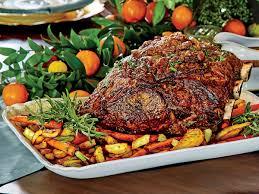 prime rib roast dinner.  Dinner PeppercornCrusted Standing Rib Roast With Roasted Vegetables  Southern  Living In Prime Dinner E