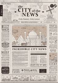 Old Newspaper Article Template Design Of Old Vintage Newspaper Template Showing Articles With
