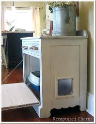 cat litter box cabinet e furniture cover and diy plans
