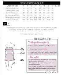 Lindy Bop Size Chart