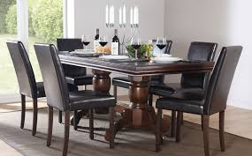 brilliant dark wood dining room set dark wood dining room table