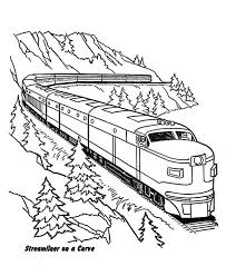 Small Picture Streamliner Train on a Curve Coloring Page Color Luna