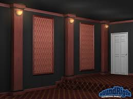 acoustical framed wall panels for home