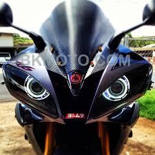 yamaha r6. yamaha r6 r6r hid bixenon projector headlight retrofit dual halo angel eyes | ebay