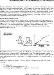 Ect Voltage Chart Toyota Electronic Transmission Checks Diagnosis Pdf
