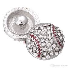snap jewelry baseball softball rhinestone 12mm mini snap ons fit diy oem snap bracelets for women zl072 bangles bracelets for women from xinnver
