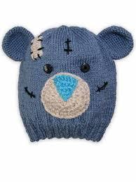 Вязаная серо-голубая шапка <b>мишка</b> Тедди - <b>Caps</b>-055-Teddy ...