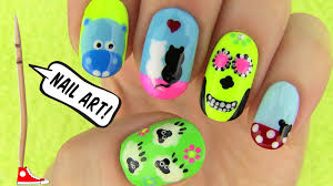 Nails, Nail Art Tutorial Using a Toothpick! 5 Nails, Nail Art Designs -  YouTube
