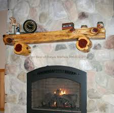 log fireplace mantel hlm with corbels