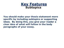 the thesis statement a road map for your essay essay introduction  8 a