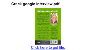 Crack Google Interview Pdf Google Docs