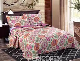 vivilinen paisley fl prints boho chic cotton 3 piece king size bed