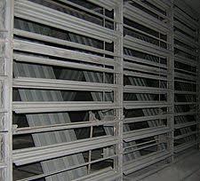air conditioning damper. opposed blade dampers in a mixing duct. air conditioning damper