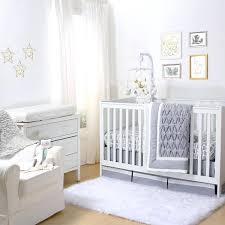 grey crib bedding