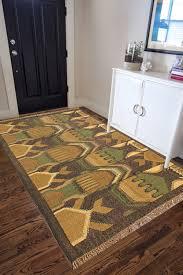 rugsville designer modern multi dhurrie rug 4 x 6