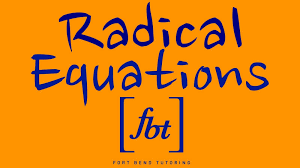 solving radical equations inequalities