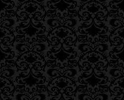 Free black design floral pattern phone wallpaper by nicolenicotine