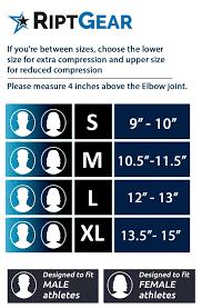 Elbow Sleeve Size Chart Elbow Brace