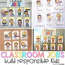Classroom Helpers Pocket Chart Classroom Jobs That Kids Will Love Proud To Be Primary
