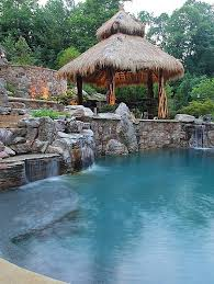 Pool Designs For Small Backyards Interesting Outdoors Natural Backyard Pool With Natural Pool Waterfall And